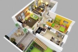 Mẫu nhà cấp 4 có 3 – 4 phòng ngủ hiện đại và tiện nghi nhất năm 2021